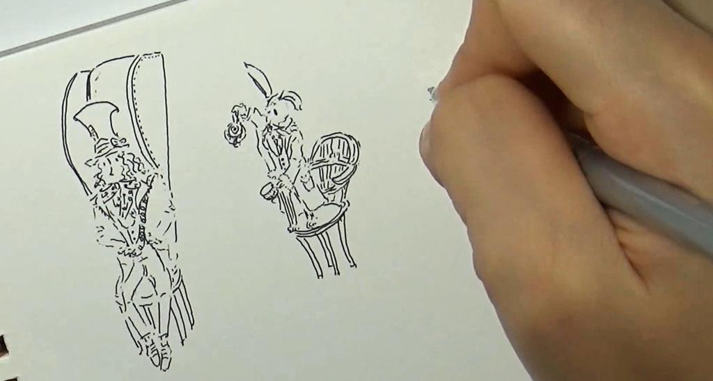 [거울나라의 앨리스]티파티 페이퍼 아트 영상