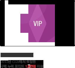 VIP members 2013년 CGV에서 적립한 구매 누적 포인트 1.4만점 이상