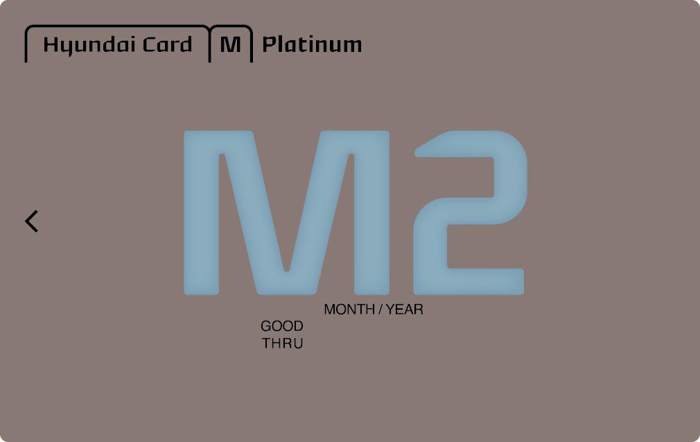 현대카드M2 플래티늄