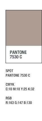 SUB2 - PANTONE 7530 C / SPOT - PANTONE 7530 C, CMYK - C:10 M:18 Y:25 K:32, RGB - R:163 G:147 B:130